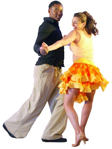 Danseurs de salsa dancenter